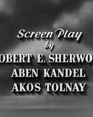 Main title from Thunder in the City (1937) (4).  Screen play by Robert E Sherwood Aben Kandel, Akos Tolnay