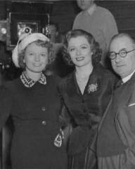 Anna Neagle with Margaret Lockwood and Neagle's husband, film producer Herbert Wilcox in an off-set photograph from Trent's Last Case