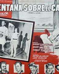 Mexican lobby card from Trouble in the Glen (1954) (1)