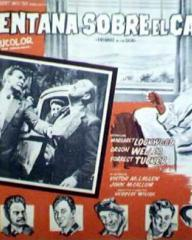 Mexican lobby card from Trouble in the Glen (1954) (2)