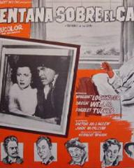 Mexican lobby card from Trouble in the Glen (1954) (3)