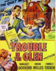 Poster for Trouble in the Glen (1954) (4)