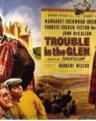 Poster for Trouble in the Glen (1954) (5)