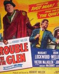 Poster for Trouble in the Glen (1954) (6)