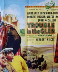 Poster for Trouble in the Glen (1954) (7)