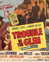 Poster for Trouble in the Glen (1954) (9)