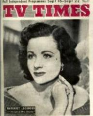 TV Times magazine with Margaret Lockwood in The Last of Mrs Cheyney.  16th September, 1956.