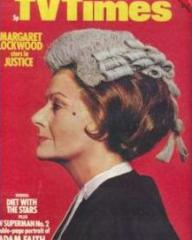 TV Times magazine with Margaret Lockwood in Justice.  9th October, 1971.