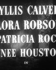 Main title from Two Thousand Women (1944) (1). Phyllis Calvert, Flora Robson, Patricia Roc, Renee Houston in