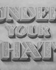 Main title from Under Your Hat (1940) (4)
