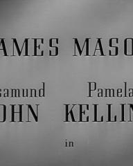 Main title from The Upturned Glass (1947) (2). James Mason, Rosamund John, Pamela Kellino in