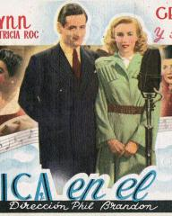 Geraldo (as Gerry) and Vera Lynn (as Peggy Brown) in a Spanish poster for We'll Meet Again (1943) (2)