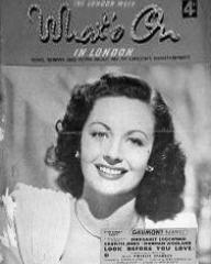 What's On in London magazine with Margaret Lockwood in Look Before You Love.  December, 1948.