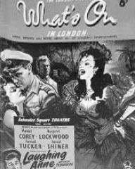 What's On in London magazine with Wendell Corey and  Margaret Lockwood in Laughing Anne.  September, 1953.