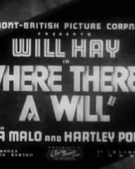 Main title from Where There's a Will (1936) (1)