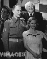 Joan Greenwood, Bruce Seton and Mary McNeil starring in the Ealing Studios comedy 'Whisky Galore!' (1949), directed by Alexander Mackendrick