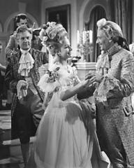 Ian Hunter (as Philip Templar), Margaret Lockwood (as Lucy) and Guy Middleton (as Fobey) in a photograph from The White Unicorn (1947) (19)