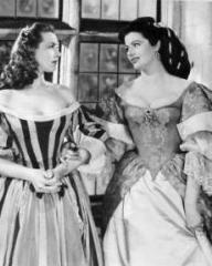 Patricia Roc (as Caroline) and Margaret Lockwood (as Barbara Worth) in a photograph from The Wicked Lady (1945) (3)