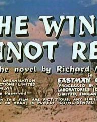 Main title from The Wind Cannot Read (1958) (6).  From the novel by Richard Mason.  Copyright The Rank Organisation Film Productions Limited 1958 all rights reserved.  In Eastman Color (processed by the Rank Laboratories (Denham) Limited England).  All characters in this film are fictitious.  Any similarity to actual persons living or dead, is purely coincidental