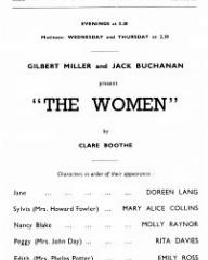 Programme from The Women (1939) at the Lyric Theatre, London (2)