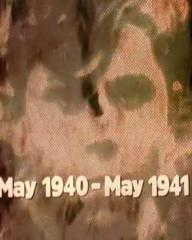 Main title from the 1973 'Alone' episode of The World at War (1973-74) (2). May 1940-May 1941
