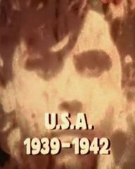 Main title from the 1973 'On Our Way' episode of The World at War (1973-74) (2). USA 1939-1942