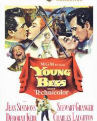 Stewart Granger (as Thomas Seymour) and Deborah Kerr (as Catherine Parr) in a DVD cover of Young Bess (1953) (1)