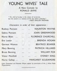 Programme from Young Wives' Tale (1949) at the Savoy Theatre, London (1)