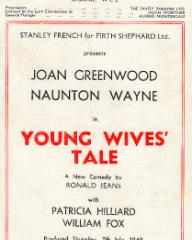 Programme from Young Wives' Tale (1949) at the Savoy Theatre, London (2)