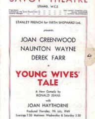 Programme from Young Wives' Tale (1949) at the Savoy Theatre, London (4)