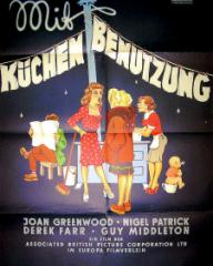 German poster for Young Wives' Tale (1951) (1)