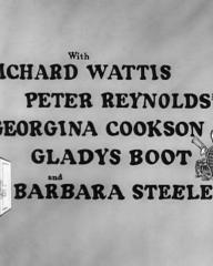 Main title from Your Money or Your Wife (1960) (4).  With Richard Wattis Peter Reynolds, Georgina Cookson, Gladys Boot and Barbara Steele