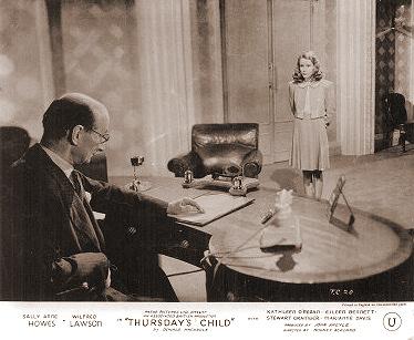 Lobby card from Thursday's Child (1943) (3)