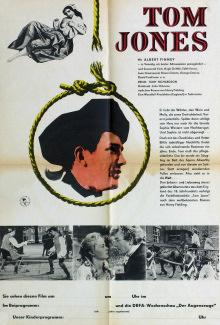 German poster for Tom Jones (1963) (1)