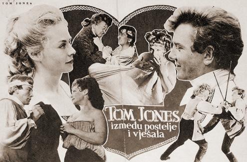 Yugoslav poster for Tom Jones (1963) (2)