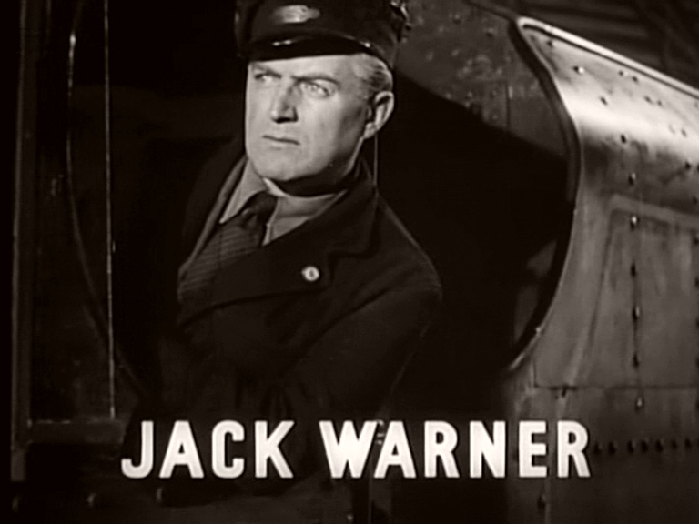 Main title from Train of Events (1949) featuring Jack Warner