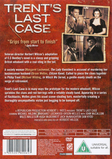 DVD cover of Trent's Last Case (1952) (1)
