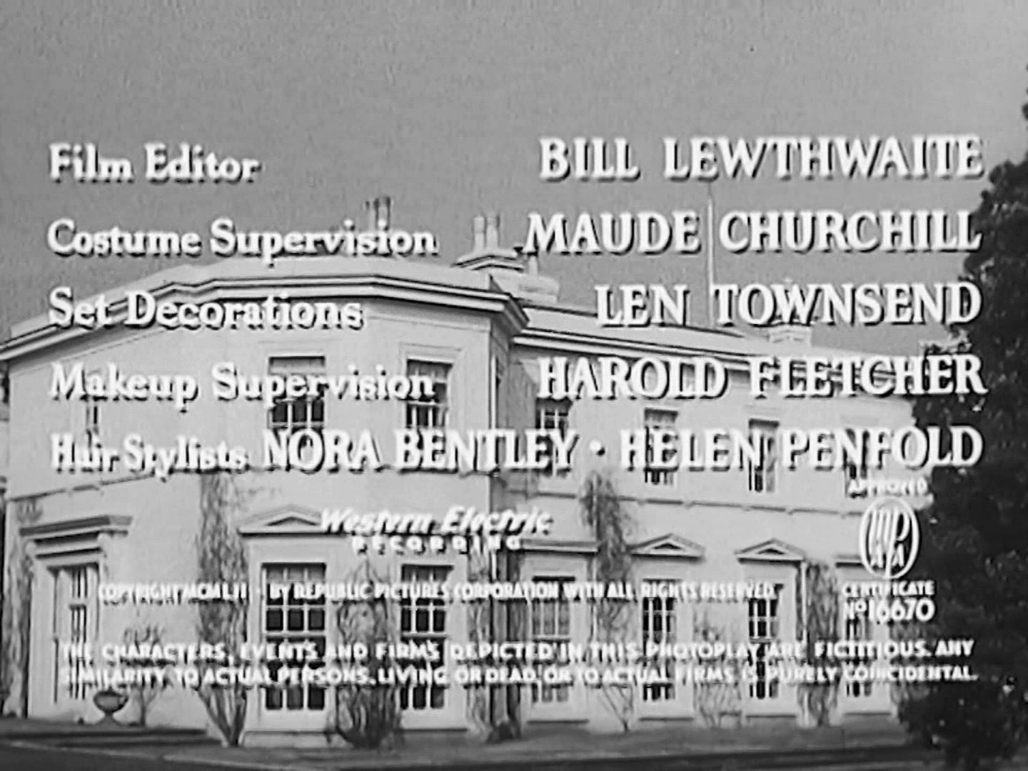 Main title from Trent's Last Case (1952) (9)