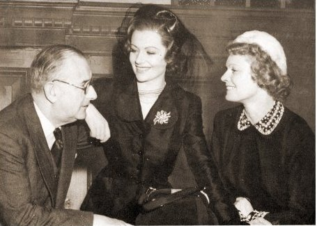 Photograph from Trent's Last Case with Herbert Wilcox, Margaret Lockwood and Anna Neagle