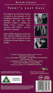 Video cover from Trent's Last Case (1952) (1)
