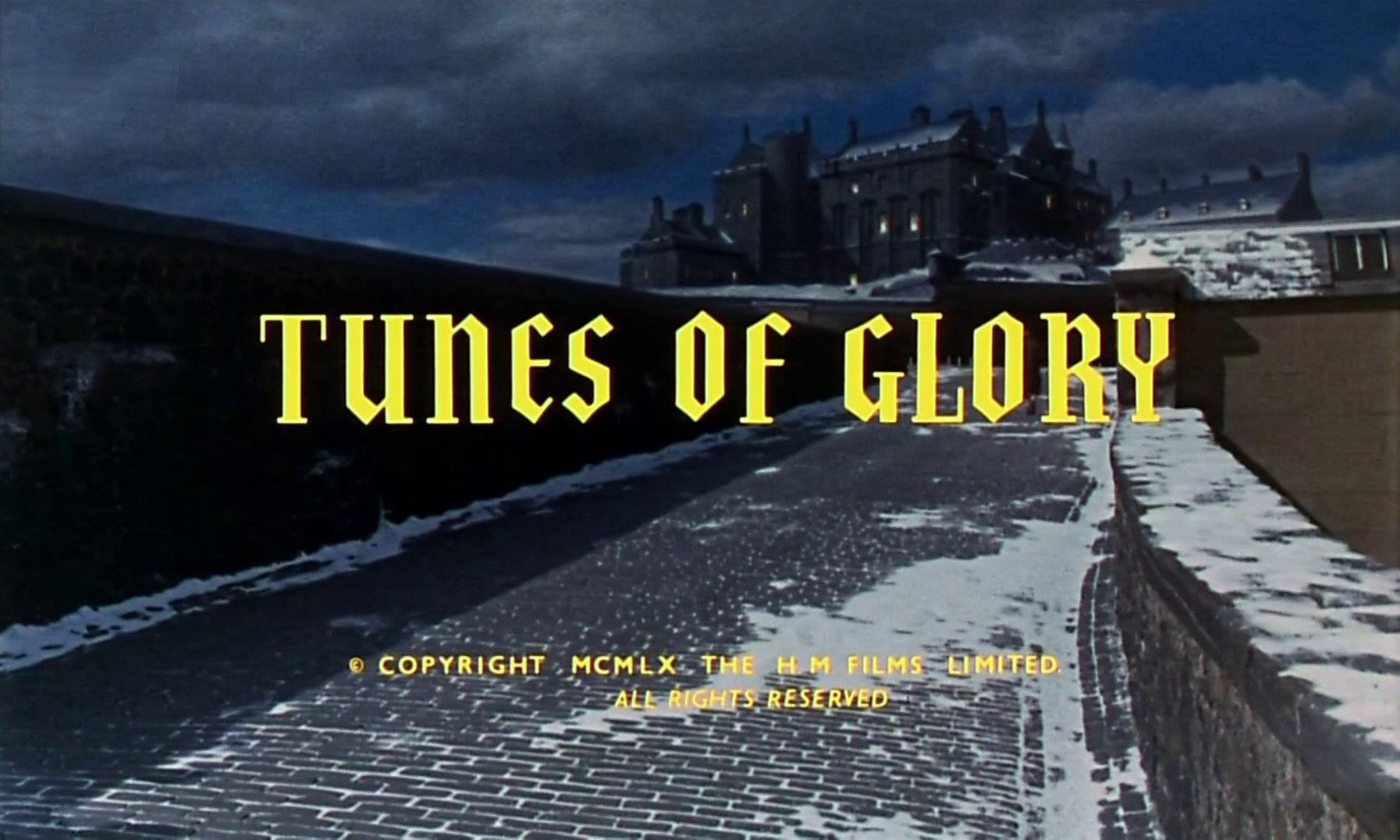 Main title from Tunes of Glory (1960) (4).  Copyright 1960 The H M Films Ltd.  All rights reserved