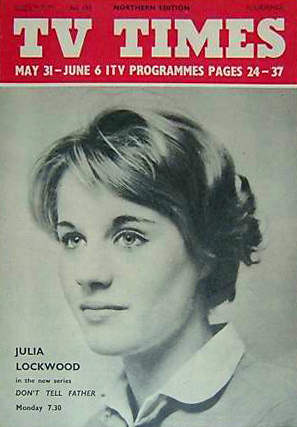 TV Times magazine with Julia Lockwood in Don't Tell Father.  31st May, 1959.