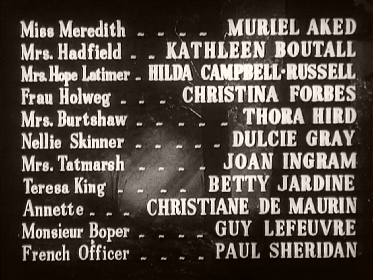 Main title from Two Thousand Women (1944) (10)