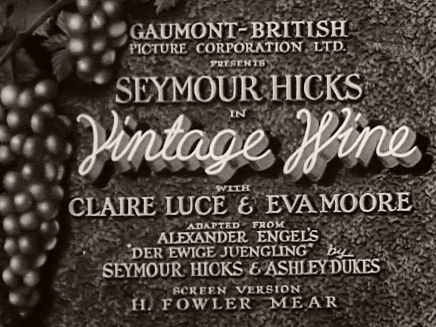 Main title from Vintage Wine (1935) (1)