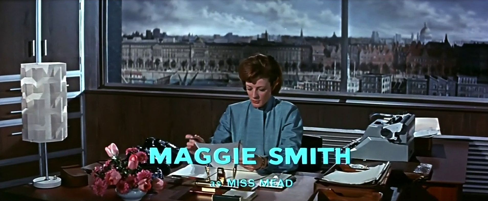 Main title from The VIPs (1963) (8). Maggie Smith as Miss Mead