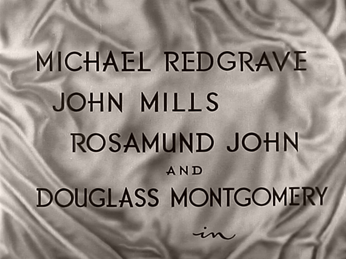 Main title from The Way to the Stars (1945) (3). Michael Redgrave, John Mills, Rosamund John and Douglass Montgomery in