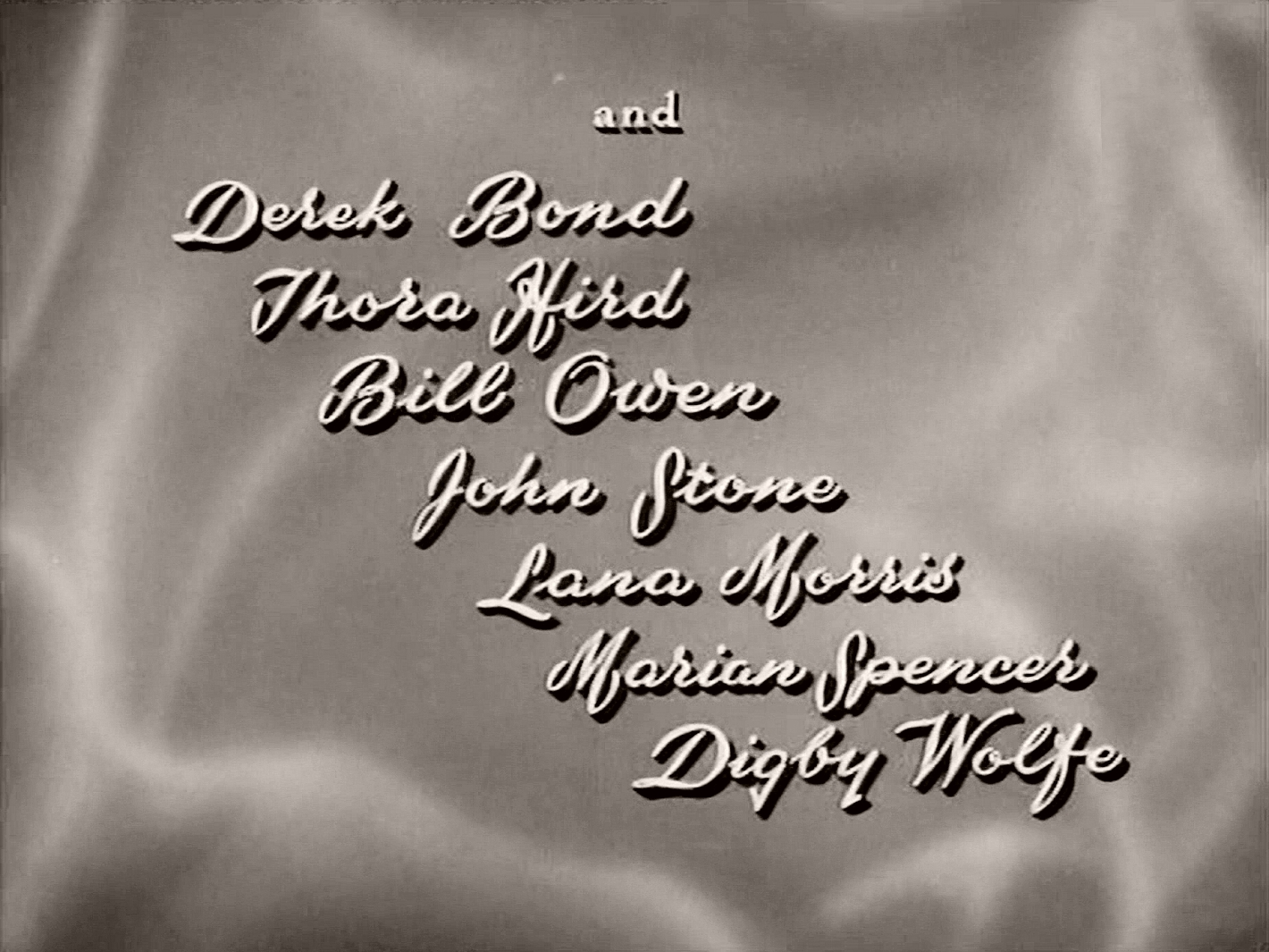 Main title from The Weaker Sex (1948) (6).  And Derek Bond Thora Hird, Bill Owen, John Stone, Lana Morris, Marian Spencer, Digby Wolfe