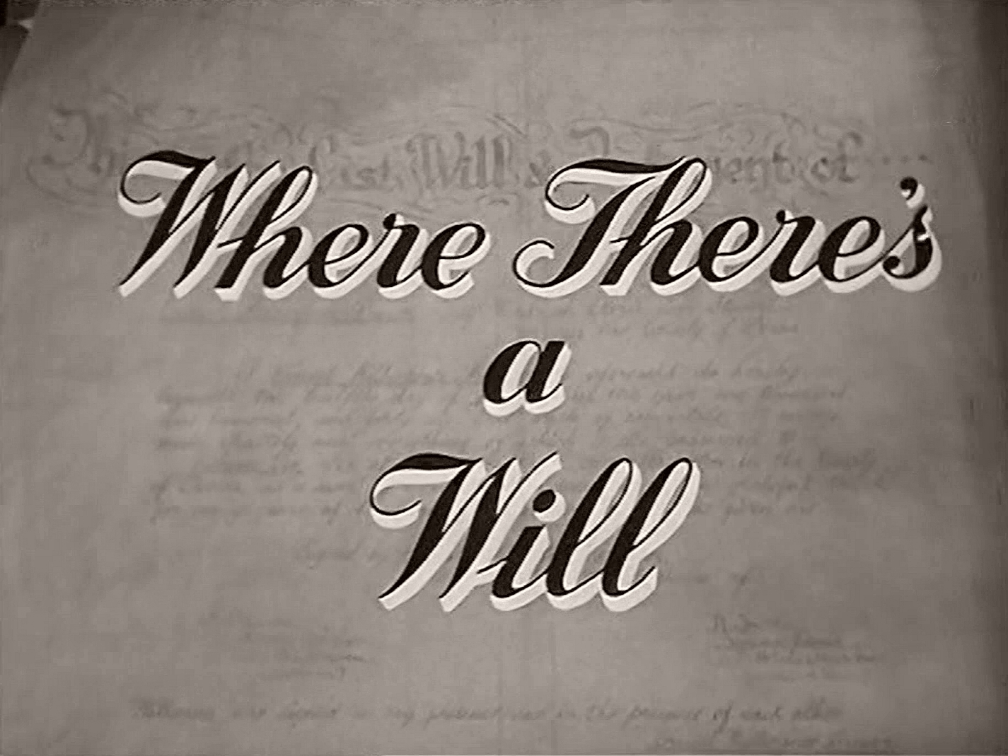 Main title from Where There's a Will (1955) (3)