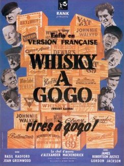 French poster for Whisky Galore! (1949) (1)