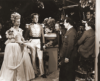 Margaret Lockwood (as Lucy) and Dennis Price (as Richard Glover) in a photograph from The White Unicorn (1947) (35)